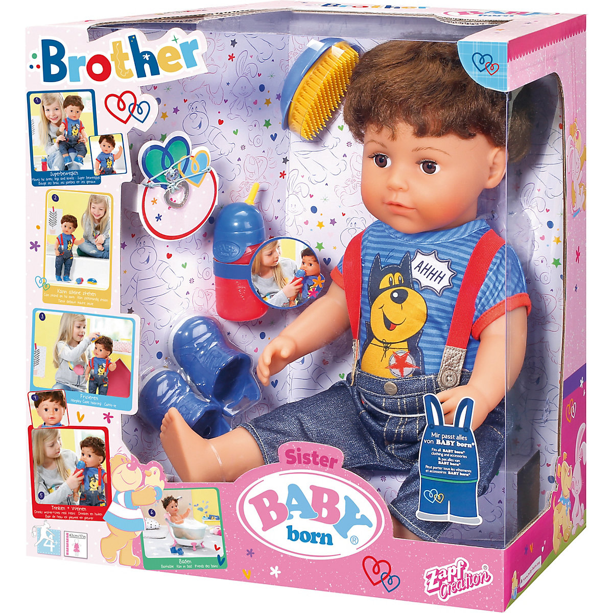 Baby Born 174 Brother Zapf Creation Mytoys