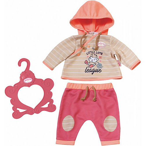 Zapf Creation Baby Annabell® Outfit Boy & Girl w. hoody | 04001167701775