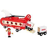 """Игровой набор Brio """"Грузовой вертолёт с вагонами"""""""