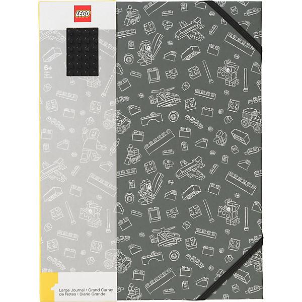 Книга для записей A4 (96 листов, линейка) LEGO, цвет: серый
