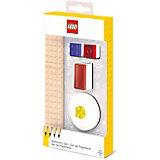 Набор канцелярский: 4 карандаша, 2 насадки, 1 точилка, 1 ластик.