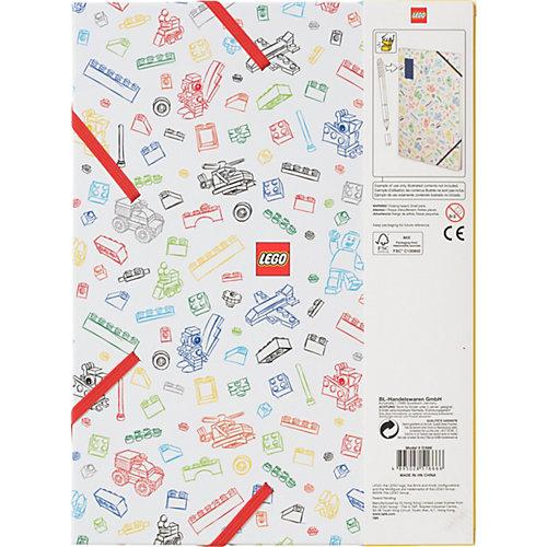Альбом для рисования A4 (96 листов) LEGO, цвет: белый с красным кубиком от LEGO