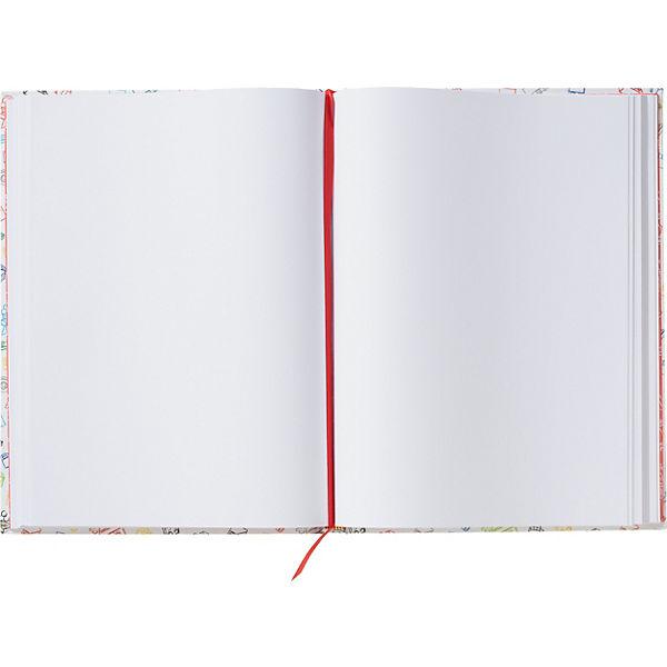 Альбом для рисования A4 (96 листов) LEGO, цвет: белый с красным кубиком
