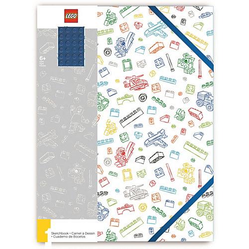Альбом для рисования A4 (96 листов) LEGO, цвет: белый с синим кубиком от LEGO