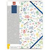 Альбом для рисования A4 (96 листов) LEGO, цвет: белый с синим кубиком