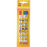 Набор из 6 цветных карандашей. LEGO iconic (смайлик)