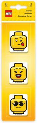 Набор ластиков LEGO (3 шт., цвет: желтый) LEGO iconic (смайлик) — Набор ластиков LEGO (3 шт., цвет: ) LEGO iconic (смайлик)