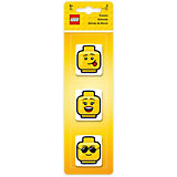 Набор ластиков LEGO (3 шт., цвет: желтый) LEGO iconic (смайлик)