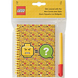 Набор: блокнот на спирали (100 листов, линейка), гелевая ручка LEGO iconic (смайлик)