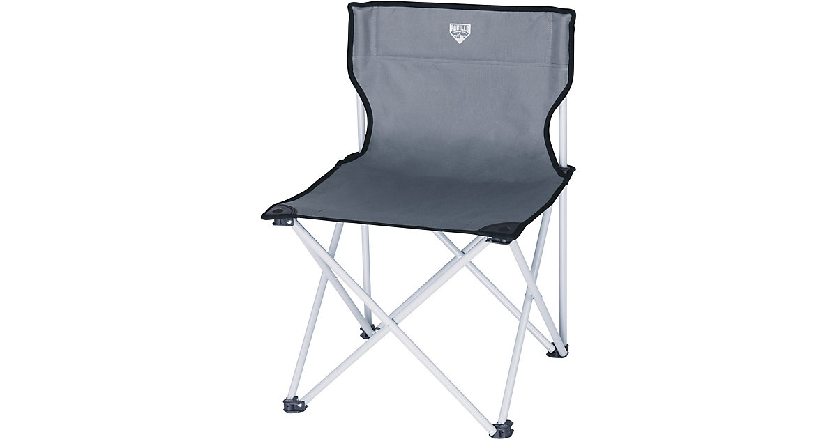 Pavillo™ Fold 'N Sit Chair 50x50x72 cm, Campingstuhl mit Rückenlehne grau