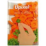 Пиксели большие Upixel, оранжевый