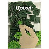 Пиксели большие Upixel, темно зеленый