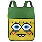 Пиксельный рюкзак Upixel «Canvas Top Lid pixel Backpack», зеленый-желтый