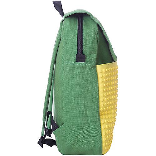 Пиксельный рюкзак Upixel «Canvas Top Lid pixel Backpack», зеленый-желтый - желтый от Upixel