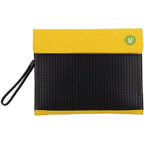 Пенал-косметичка Upixel «Sono Envelope clutch», желтый-черный - желтый от Upixel