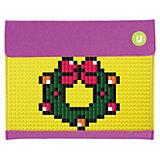 Пенал-косметичка Upixel «Sono Envelope clutch», фиолетовый-желтый