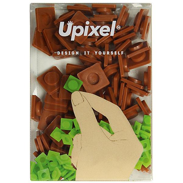 Пиксели большие Upixel, кофейный
