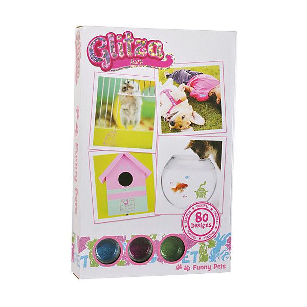 GLITZA ART - Starter Set Funny Pets inkl. 80 Tattoos, Glitza