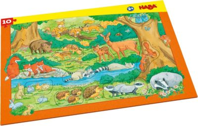 Puzzles & Geduldspiele HABA 3D HOLZPUZZLE MEIN TAG 22 TEILE HOLZ-PUZZLE NEU