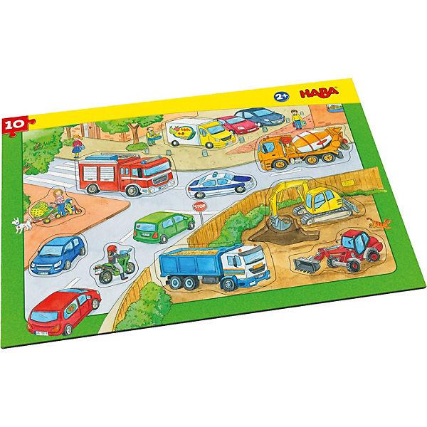 Rahmenpuzzle 10 Teile - Fahrzeuge, Haba