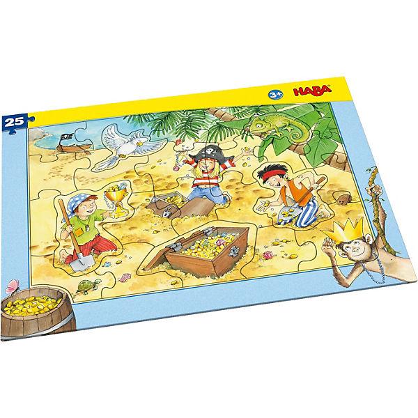 Rahmenpuzzle 25 Teile - Piratengold, Piratengold, - Haba 450e55