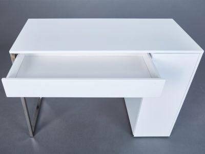 Schreibtisch SCANDICI, weiß matt/Eiche massiv, | myToys