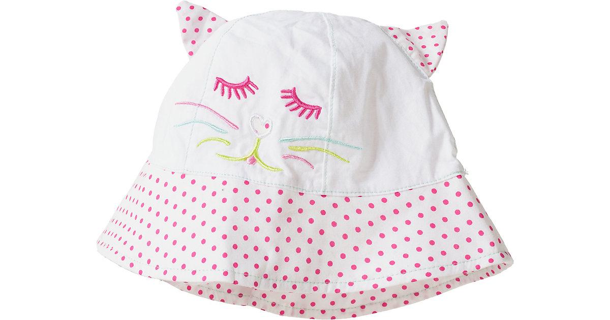 Hut zum Binden  rosa/weiß Gr. 48 Mädchen Kleinkinder