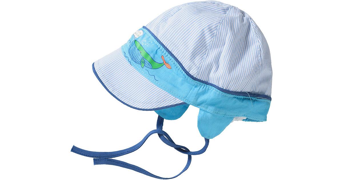 Schirmmütze zum Binden  blau Gr. 48 Jungen Kleinkinder