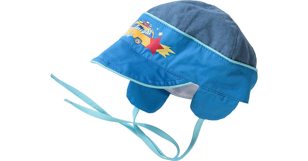 Baby Schirmmütze zum Binden  blau Gr. 46 Jungen Kinder