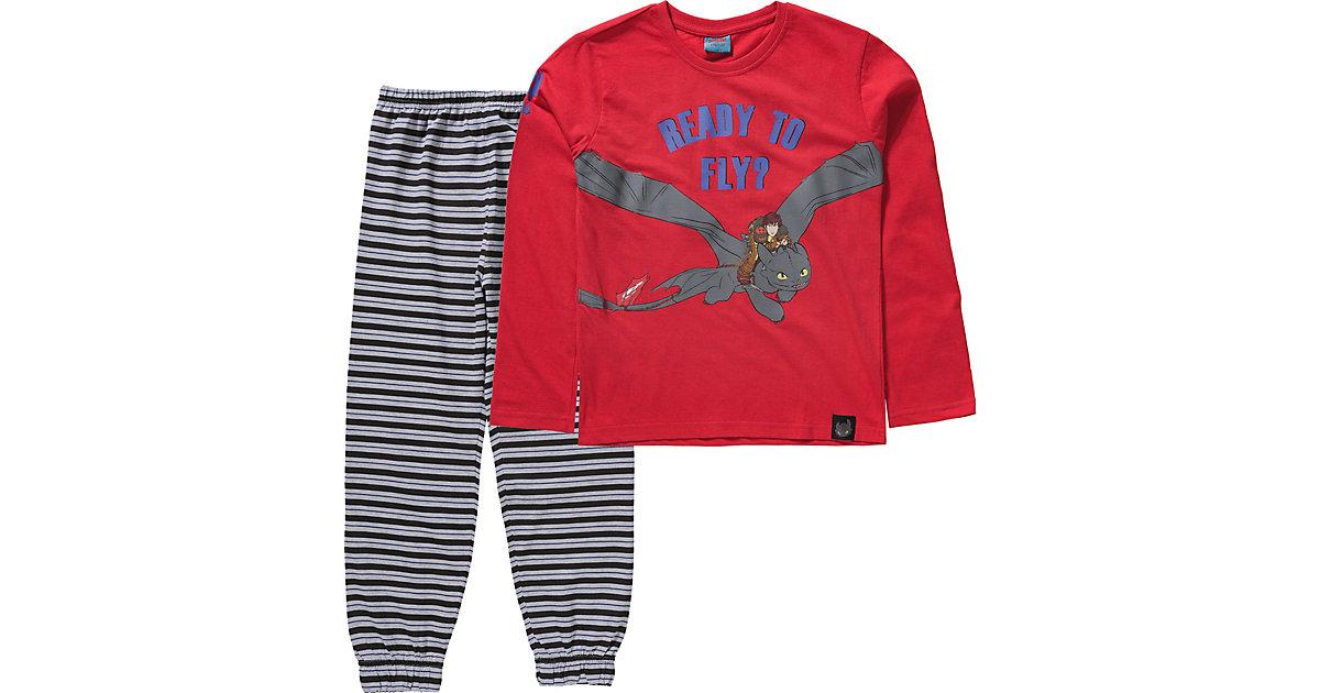 Dragons · Dragons Schlafanzug Gr. 104/110 Jungen Kleinkinder