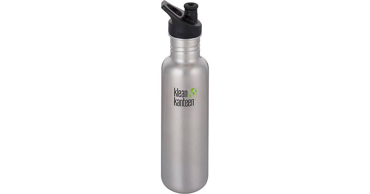 klean kanteen · Edelstahl-Trinkflasche klean kanteen Brushed Stainless, 800 ml, Sport Cap