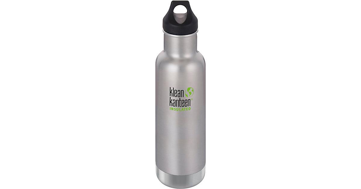 klean kanteen · Edelstahl-Trinkflasche klean kanteen Classic Brushed Stainless, 592 ml, vakuumisoliert, Loop Cap