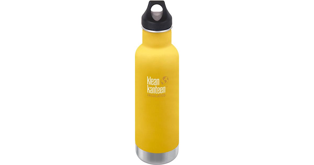 klean kanteen · Edelstahl-Trinkflasche klean kanteen Classic Lemon Curry, 592 ml, vakuumisoliert, Loop Cap