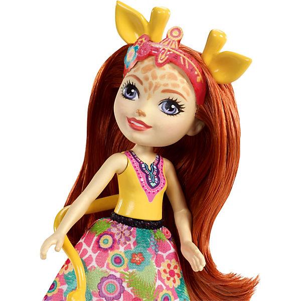 "Мини-кукла Enchantimals ""С большими зверюшками"" Джиллиана Жирафка и Паул"