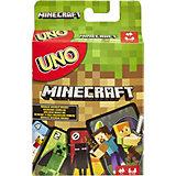 """Карточная игра Mattel Games """"Уно"""" Майнкрафт"""