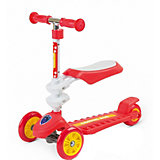 Трехколесный самокат Small Rider Galaxy Seat Cosmic Zoo, красный