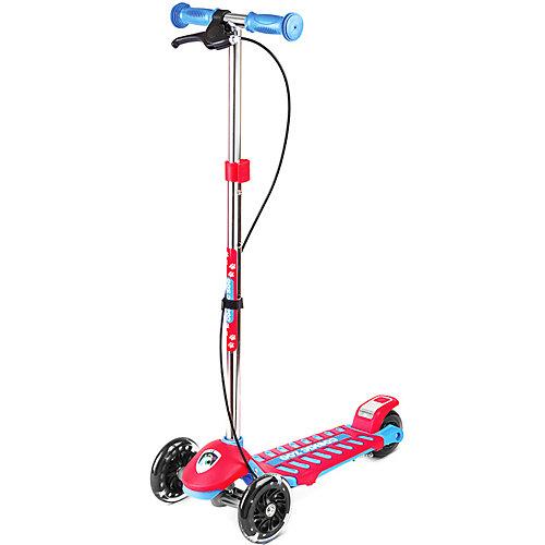 Трехколесный самокат Small Rider Galaxy Cosmic Zoo, сине-красный от Small Rider