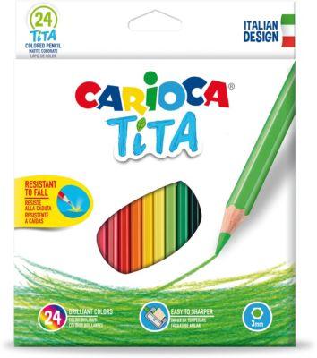 Набор карандашей цветных пластиковых Carioca Tita, 24 цвета