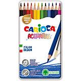 Набор цветных карандашей Carioca Acquarell, 12 цветов