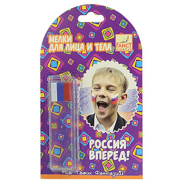 """Мелки для лица и тела Fancy Creative """"Россия, вперед!"""""""