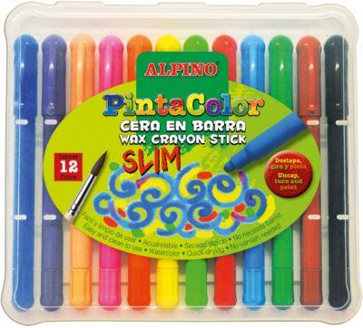Восковые акварельные карандаши PINTACOLOR SLIM, 12 цветов