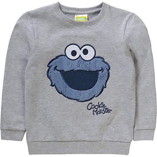Sesamstraße Baby Sweatshirt mit Kuschelapplikation Gr. 104/110 Jungen Kleinkinder | 04250979814054