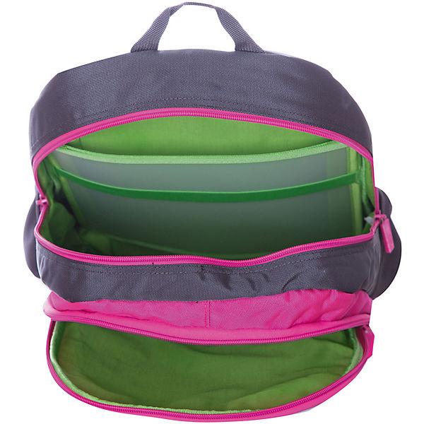 Рюкзак 4ALL Линия School, серо-розовый