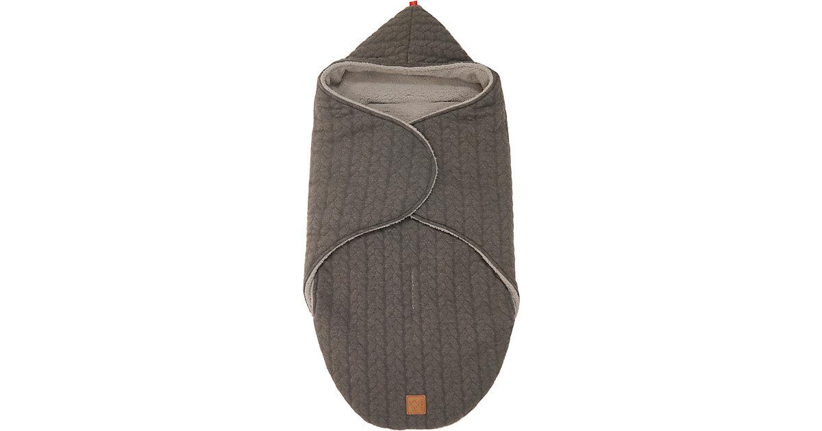 Einschlagdecke Wrappy, Strick Design, anthrazit