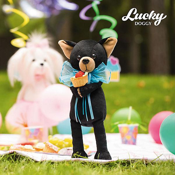 Мягкая игрушка Orange Lucky Doggy Собака Buzz: Весёлый бант, 37 см
