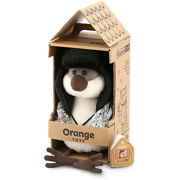 Мягкая игрушка Orange Life Воробей: Ушанка, 20 см