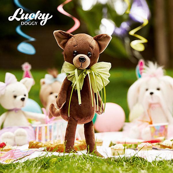 Мягкая игрушка Orange Lucky Doggy Собака Alex: Весёлый бант, 37 см