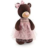 Мягкая игрушка Orange Choco & Milk Мишка Milk стоячая в платье с блёстками, 30 см
