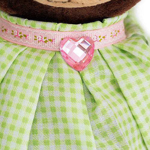 Мягкая игрушка Orange Choco & Milk Мишка Milk стоячая в платье в клеточку, 30 см от Orange