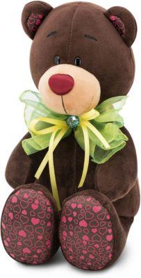 Мягкая игрушка Orange Choco & Milk Мишка Choco: Зелёный бант, 25 см